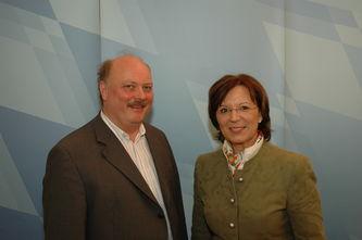 Andreas Nagel und Emilia Müller, Verkehrsministerin Bayern