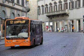 Minibus in Florenz im August 2013