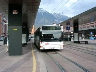 Ein O-Bus bei der Abschiedsfahrt