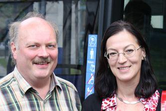 Andreas Nagel und Claudia Tausend<br>auf Stadtrundfahrt durch München