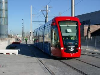 Die neue Trambahn Metro Ligero aus Madrid.