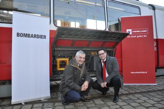 Günter Steinbauer, Geschäftsführer Wiener Linien und <br>Christian Diewald, Bombardier Österreich